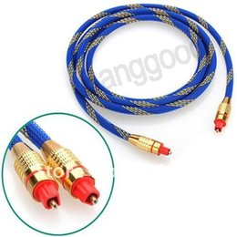 Wholesale Digital Dts - Wholesale-AC T 1pcs lot High Frequency 2M Toslink Digital Optical Fiber Audio Cable 6.5FT OD 5.0 ADAT, DAW, Dolby Digital, DTS