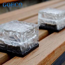 Wholesale Garden Solar Brick - Wholesale-2X Outdoor Underground Brick Lamp, Led Garden light, Waterproof Solar Crystal Glass LED Floor light
