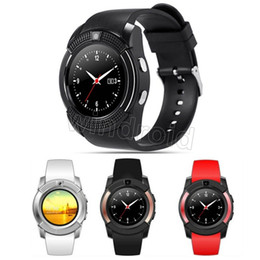 Wholesale Arrival Tracker - New Arrival 8 Colors V8 Smart Watch Phone Bluetooth 3.0 IPS HD Full Circle Display MTK6261D Smartwatch VS GT08 DZ09 with retail package