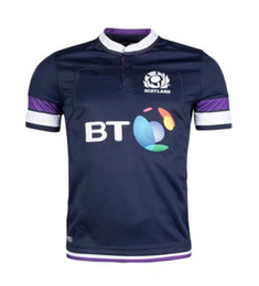 Wholesale Flashing Strip - New Scotland RWC Strip 201-2018 Scottish Home Away Kits Rugby World Cup 2018 Scotland Rugby Shirt Thailand Quality Rugby Jerseys