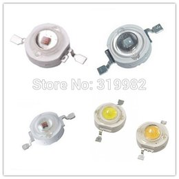 Wholesale 1w Led Grow Lights - Wholesale- 50pcs lot LED Grow Light Diode LED Beads 1W Leds Deep Red Royal Blue High Power Chip Growing Lamp Bead 440nm 445nm 450nm 660nm
