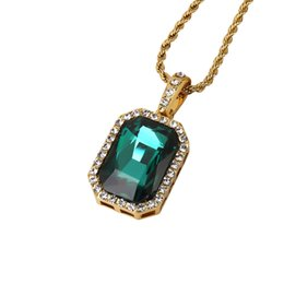 Wholesale mens gold figaro chains - Free Shipping Women Mens Ruby Diamond Necklaces Plated Fashion Hip Hop Jewelry Gold Hater Chains Punk Rock Micro Men Pendant Necklace