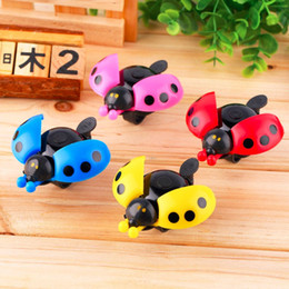 Wholesale Bike For Alarm - Lovely Kid Beetle Ladybug Ring Bell For Cycling Bicycle Bike Ride Horn Alarm free shipping