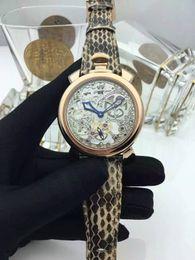 Wholesale Watch Gaga - Gaga New model brand Quartz watches Fashion Skeleton Tourbillon wrist watch Genuine Leather strap High quality sapphire crystal Casual Water