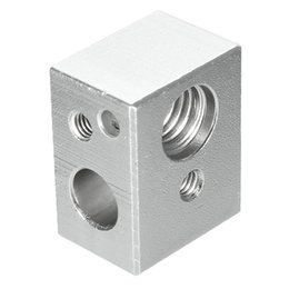 Wholesale M7 Aluminium - NEW MK10 Heating Blocks M7 thread for Wanhao Dupicator D4  I3  Dremel 3D Printer 20x16x11.5mm Aluminium Silver Alloy