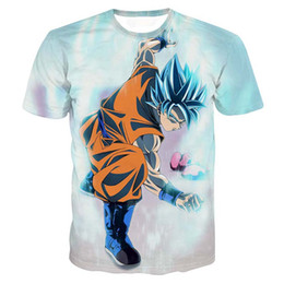 Wholesale Dragon Ball Freeza - Dragon Ball Z T-shirts Mens Summer Fashion 3D Printing Super Saiyan Son Goku Vegeta Frieza Freeza Dragonball T Shirt Tops Tee
