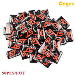 Wholesale nissan racing - Car Stickers ST racing Badge Plastic Drop Sticker for Seat vw honda fiat nissan saab mazda Car Decals Epoxy Logo Sticker 50PCS LOT