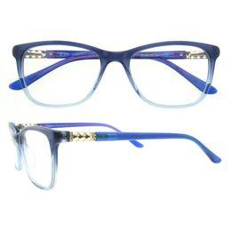 Wholesale China Eyewear Frame - 2017 fashionable glasses,Top quality full frame Acetate unisex eyewear frames with spring hinge manufacturers in china