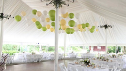 Wholesale Color Sky Lanterns - Quality ivory color Paper Lanterns Mixed Sizes(4-16inch)Chinese paper Ball Balloon wedding decorations Kids Gift