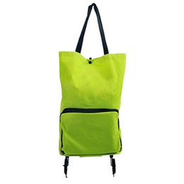 Wholesale Wheel Shopping Trolley - Wholesale- Lightweight Foldable Shopping Trolley Wheel Folding Bag Traval Cart Luggage HOT