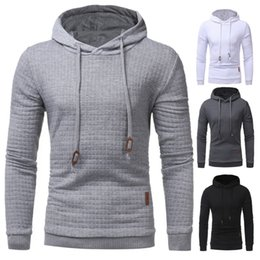 Wholesale Gray Hooded Sweater - The 2017 winter sweater Mens Plaid jacquard slim hooded men's long sleeved casual hoodies student burst wholesale 3D free shipping