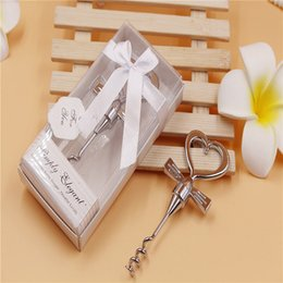Wholesale Wholesale Wine Openers Wedding - Silver Wine Corkscrew Beer Bottles Opener Romantic Wedding Favor Most Recent Hot Searches Personalized giveaway Bottle Openers