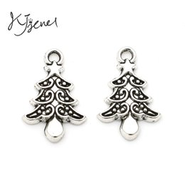 Wholesale Christmas Craft Charms - MIC Tibetan Silver Plated Christmas Tree Snowflake Charms Pendant Jewelry Findings Accessories Craft DIY Handmade