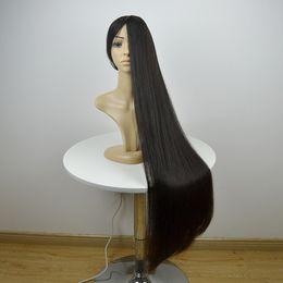 Wholesale Medium Brown Hair Color Brand - Brand sale bob layer Jews wigs long black customized silk top Mongolian virgin hair Kosher wig