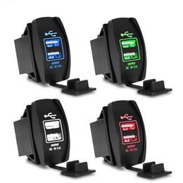 2019 12-вольтовый автомобильный адаптер Оптовая-водонепроницаемый универсальный автомобильное зарядное устройство двойной USB автомобильное зарядное устройство 3.1 A конвертер 12 В 24 в светодиодный адаптер питания дешево 12-вольтовый автомобильный адаптер