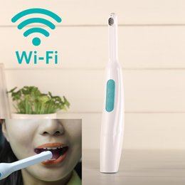 Wholesale Dental Intraoral Camera - Wholesale- Wifi Intraoral Oral Dental Camera borescope for Oral Cavity Mouth Pipe for for iPhone Android Windows PC Smartphone APP Recomote