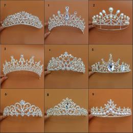 Tipos coroas de tiaras on-line-New Arrival Luxo Diferentes Tipos Casamento Tiaras Diamante Cryatal Empire Crown Bridal Headband Para Noiva Cabelo Jóias Acessórios Partido