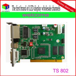 Wholesale Led Send Card - wholesale TS802 rgb full color synchronous led display controller linsn sending card