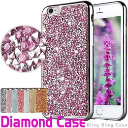 Wholesale Galaxy Glitter Cases - For iPhone 8 Galaxy ON5 jewelry Case Diamond TPU Case For Iphone 6 Cases S7 Crystal Luxury Glitter Bling Flash Power Soft Case Opp Bag
