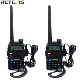 Wholesale Vhf Frequencies - Wholesale- 2pcs Retevis RT 5R Walkie Talkie VOX 5W 128CH UHF VHF Ham cb Frequency Two Way Radio Comunicator Hf Transceiver A7105A
