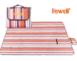Wholesale Inflatable Field - Wholesale- Hewolf Outdoor Oxford Cloth Beach Meadow Folding Field Cushions Family Park Leisure Picnic Mat free shipping