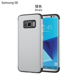Wholesale Two Phones One Case - New S8 all inclusive carbon fiber two in one mobile phone shell Samsung S8 high-end mobile phone protective cover