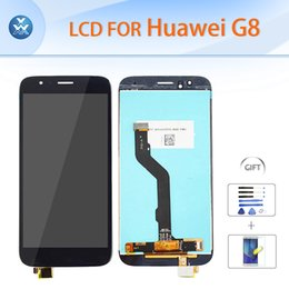 Wholesale film assembly - Original LCD display touch screen digitizer glass assembly for Huawei G8 LCD repair 5.5