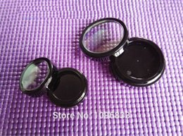 Wholesale Empty Eyeshadow - Wholesale- 2G Black Eyeshadow Case with Window Lid, 2g Cosmetic Powder Compact, Empty Cosmetics Packaging Box, 50 Pieces Lot