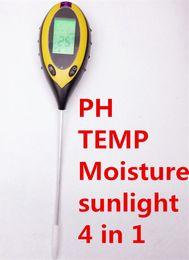 Wholesale Garden Temperature - Wholesale-4 in 1 Digital Garden Soil Plant Lawns pH Analyzer Survey Instrument Temperature Moisture Light Meter Tester with Backlight