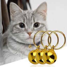 Wholesale Rusty Metal - 2 Colors Not Fade Pet Cats Collar Bell Metal Non-Rusty Cat Collars Neck Bell Pet Decorative Accessories