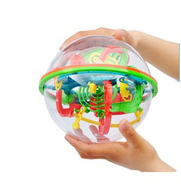 Wholesale Game Steps - Wholesale- 100 Steps 929A Puzzle Ball Small Educational Magic Intellect Ball Marble Puzzle Game Perplexus Magnetic Balls