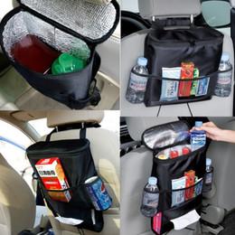 Wholesale Chair Organizer Pockets - Car Cooler Bag Seat Organizer Multi Pocket Arrangement Bag Back Seat Chair Car Styling car Seat Cover Organiser