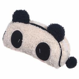 Wholesale Makeup Style Pencil Case - Wholesale-Hot Cute Style Panda Soft Plush Pencil Case Pen Pockets Cosmetic Makeup Bag Pouch For School Student Children Supplies