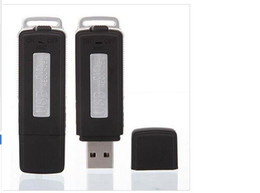 Wholesale New Mini Usb Voice Recorder - Wholesale- Hot sale New Digital USB Voice Recorder 8GB Mini Dictaphone Audio Recorder U-Disk Recording Pen