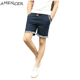 Wholesale Korean Swimsuits - Wholesale-new 2016 summer mens shorts dress travel beach hot sell casual swimsuit men brand new arrival Korean beach shorts