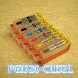Wholesale Ink Cartridge Empty Compatible - PGI520 CLI521 6color Empty with auto reset chip Refillable ink cartridge compatible Europe market Canon PIXUS MP990 MP980 Printer