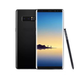 Wholesale note india - Goophone Note 8 6.3inch Edge Curved With Touch ID Smartphone Android 7.0 Quad Core 1G 8G shown 4G RAM 64G ROM Unlocked Wifi GPS Smartphone