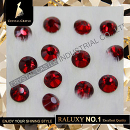 Wholesale Chaton Strass - top grade aaaaa siam luxury glass chaton rhinestones hot fix strass women dress red flatback hotfix rhinestones for bridal Shoes