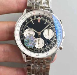 Wholesale Mens Mechanical Chronograph Divers Watches - Mens Top JF Factory Movement Automatic Chronograph watches Asia ETA 7750 Divers Top Luxury Sapphire Divers Business Wristwatches