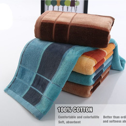 Wholesale Bathroom Textiles - mixed color Towels 100% Cotton Washing Hand towel bath towels for Adults washcloth Set Bathroom Use Home Textile sandbeach washcloth