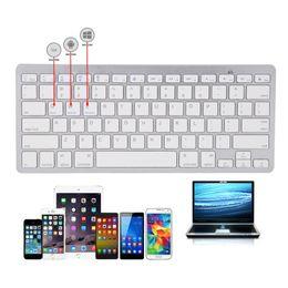 Teclado iphone bluetooth ipad on-line-Novo ultra fino teclado sem fio bluetooth 3.0 para ipad / iphone / macbook / computador pc / tablet android