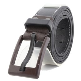 Wholesale Wholesale Quality Leather Belts - Wholesale- Women's   Mens Fashion Waist Wear Pin Buckle Plastic Pu Leather Belt Business Casual Leather Belt With High Quality