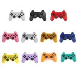 Wholesale Double Joystick Game Joypad - Wireless Bluetooth PS3 controller Game Controller for PlayStation 3 PS3 Sensitive double SHOCK Joystick Joypad with retail box