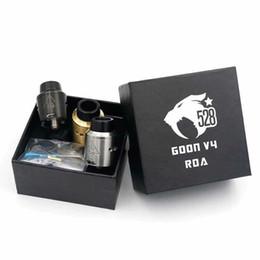 Date vaporisateur 528 GOON V4 RDA atomiseur 24 MM avec large trou d'égouttement PEEK Insulator fit 510 E Cigarette Mods vente chaude DHL gratuit ? partir de fabricateur