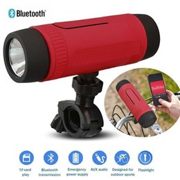 Wholesale Mini Speaker Portable Bike Bicycle - Zealot S1 Bluetooth Outdoor Bicycle Speaker Portable Subwoofer Bass Speakers 4000mAh Power Bank+LED light +Bike Mount+Carabiner