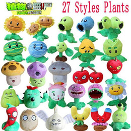 Wholesale Toy Plants Vs Zombies - 1pcs Plants vs Zombies Plush Toys 13-20cm Plants vs Zombies PVZ Plants Soft Plush Stuffed Toys Doll Game Figure Toy for Kids