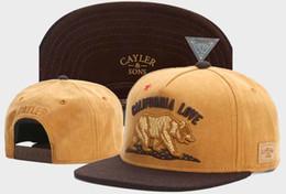 Wholesale Love Black Snapback - 2017 Gorras Cayler & Sons california love bear Snapback Baseball Cap Mens Casquette Bone Fashion Hip Hop Hats For Women