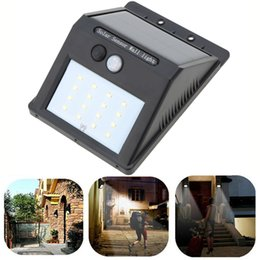 Wholesale Solar House Lamp - 8LED 16LED solar light outdoor lamp garden light solar lights IP65 Waterproof Wall Lamp led solar garden light house