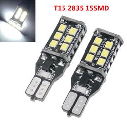 2pcs Error Free T15 / T10 2835 15SMD LED Lampadine per auto lampada per luce di backup / luce di arresto per montaggio alto CLT_08I da bianco tiguan fornitori