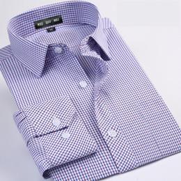 Wholesale sleeve extra long shirt - Wholesale- cotton obese extra large male casual Plaid Summer men's shirt long sleeve super large plus size 4XL5XL6XL7XL8XL 44 45 46 47 48